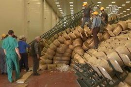 Жертвой землетрясения в Италии стал сыр