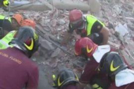 Из-под завалов в Италии спасли бабушку