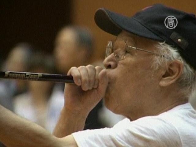 Японские пенсионеры полюбили «духовой» дартс
