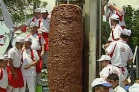 Кебаб весом больше тонны приготовили в Турции