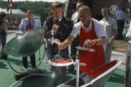 Послы стран ЕС приготовили обед на энергии солнца