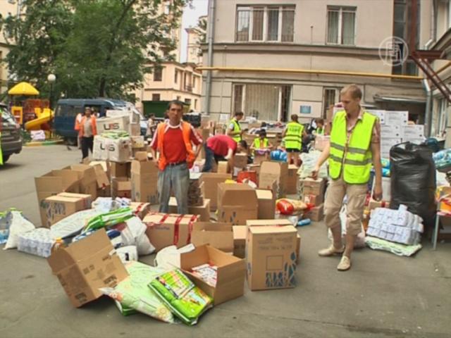 Тысячи москвичей оказывают помощь Крымску