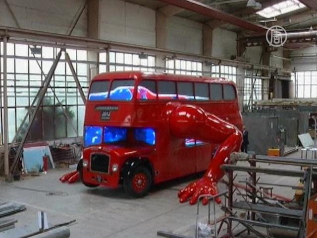 Лондонский автобус отжимается перед Олимпиадой