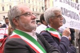 В Риме протестуют мэры итальянских городов
