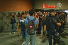 Железнодорожники Испании против приватизации