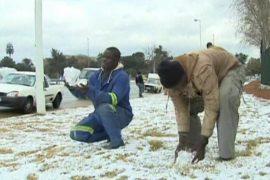 В ЮАР выпал аномальный снег
