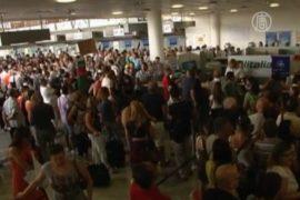 Аэропорты Сицилии погрузились в хаос