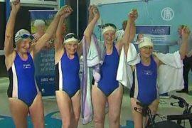 Старушки проплыли на скорость и получили медали