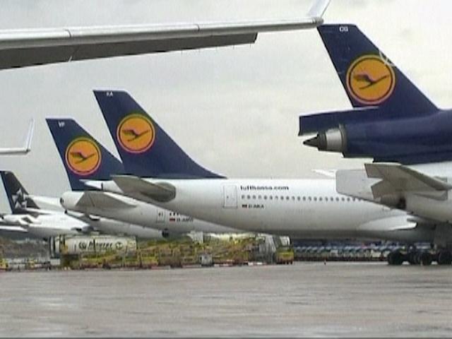 Lufthansa отменила 1200 рейсов на пятницу