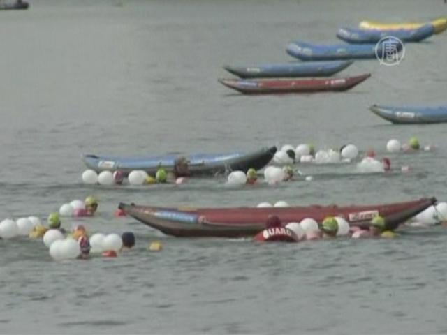 Школьники проплыли ради объединения двух Корей