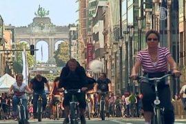 Берегись велосипеда, или день без авто в Брюсселе