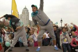 15 тысяч человек вышли на зарядку в Киеве