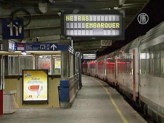 В Бельгии на сутки встали все поезда