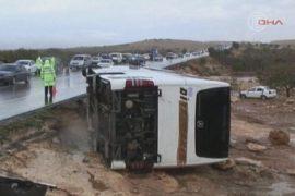 Потоки воды унесли автобус с пассажирами