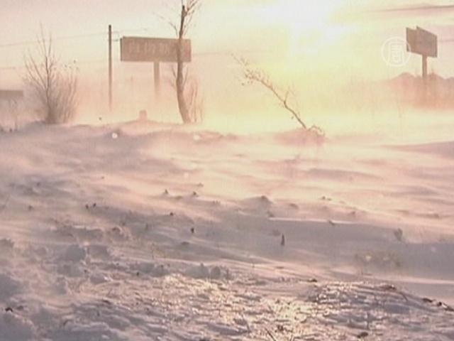 На Китай обрушился аномальный снегопад