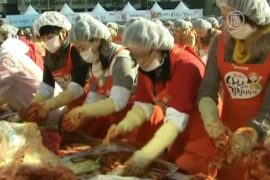 140 тонн кимчхи заготовили для бедных в Корее