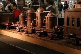 Самый длинный шоколадный поезд появился в Брюсселе