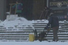 Киев завалило первым снегом