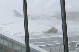 Снегопад нарушил работу аэропорта Стокгольма