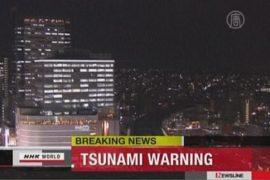 Землетрясение в Японии повлекло метровое цунами