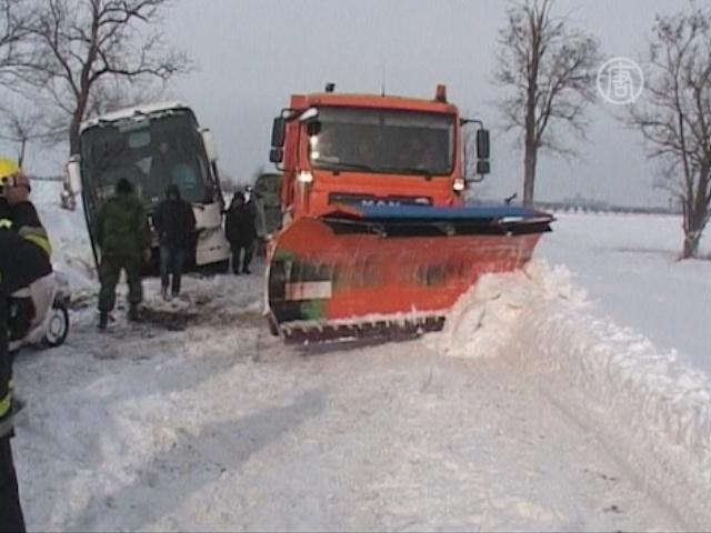 Морозы погубили двоих человек в Сербии