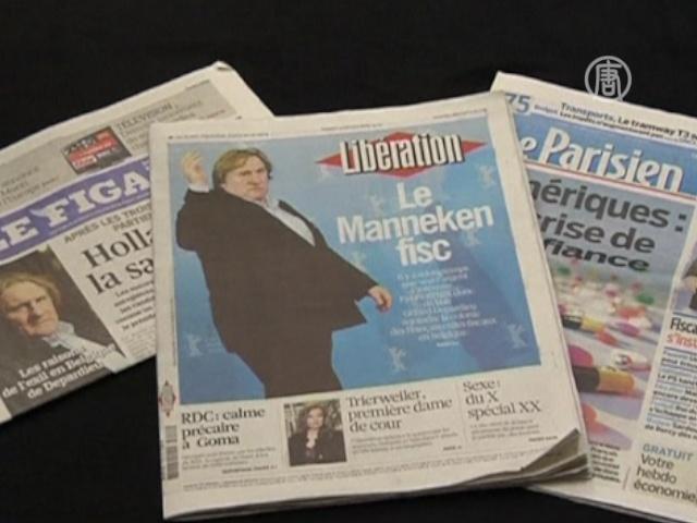 Жерар Депардье покидает Францию из-за налогов