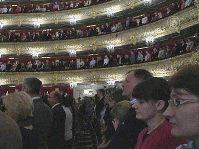 Большой почтил память Вишневской минутой молчания