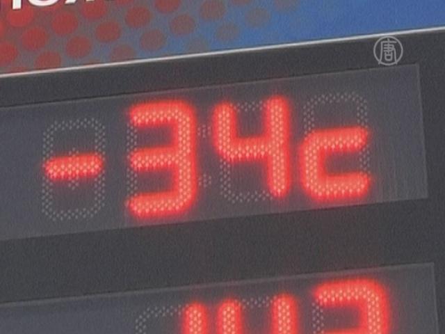По всей России крепчают морозы
