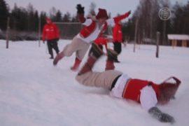 Футбол и Рождество в клубе «Санта-Клаус»