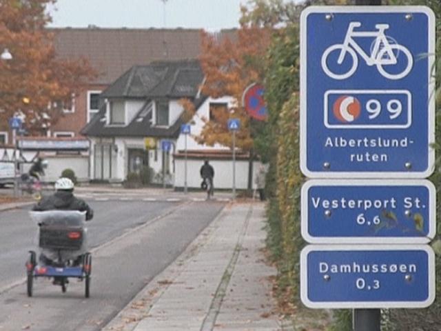 Велодорожки в Дании: всё для людей