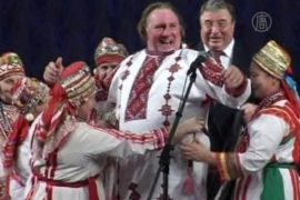 Депардье стал россиянином и прилетел в Саранск