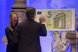 Марио Драги представил новую купюру — 5 евро