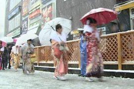 Внезапный снег застал японцев врасплох