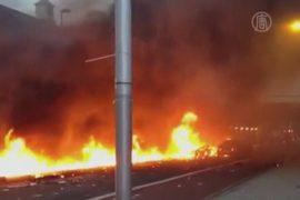 В центре Лондона упал вертолет, есть жертвы