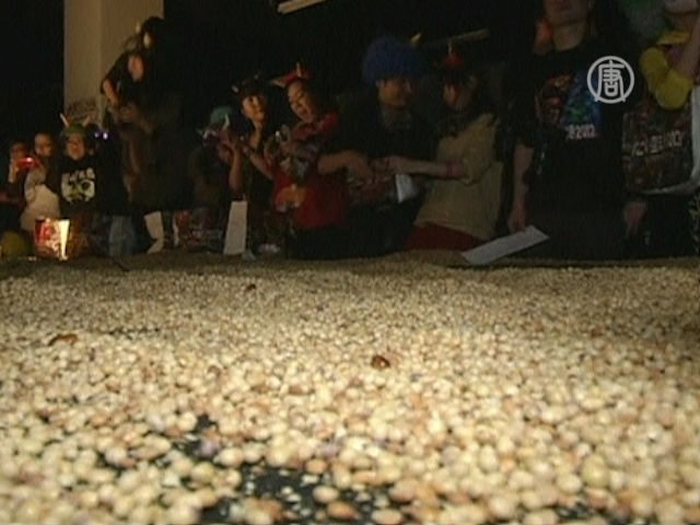 Японцы нейтрализуют чертей бобами