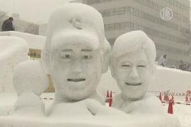 Гигантские скульптуры из снега выросли в Саппоро
