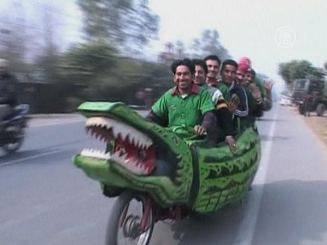 «Мотокрокодил» — уникальный индийский транспорт