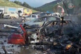 Взрыв на турецко-сирийской границе, 13 жертв