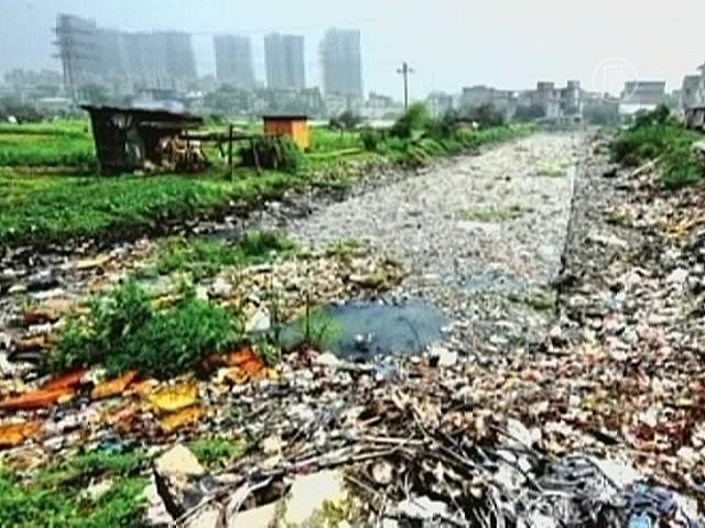 Чиновникам обещают награду за нырок в грязную реку