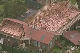 Сильнейший шторм разрушил дома в Сиднее