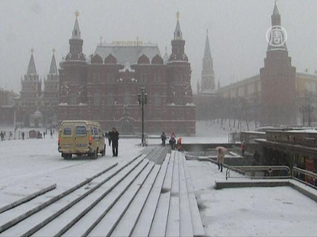 Москва: крупнейший за 50 лет мартовский снегопад