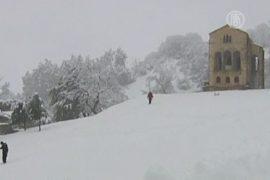 Испания утопает в снегу
