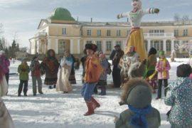 Под Петербургом празднуют Широкую Масленицу