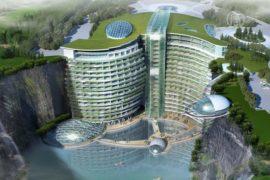 В Китае построят первый отель в гигантском карьере