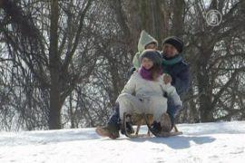 Берлинцы наслаждаются морозными днями