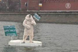 Как медведь плавал на льдине под стенами Кремля