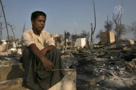 Пожар в Мьянме уничтожил сотни домов