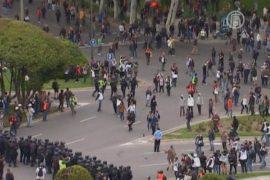 В Мадриде протестующие устроили беспорядки