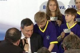 Новая «пятёрка» вошла в обращение в еврозоне