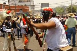 Мексиканцы отпраздновали победу над французами